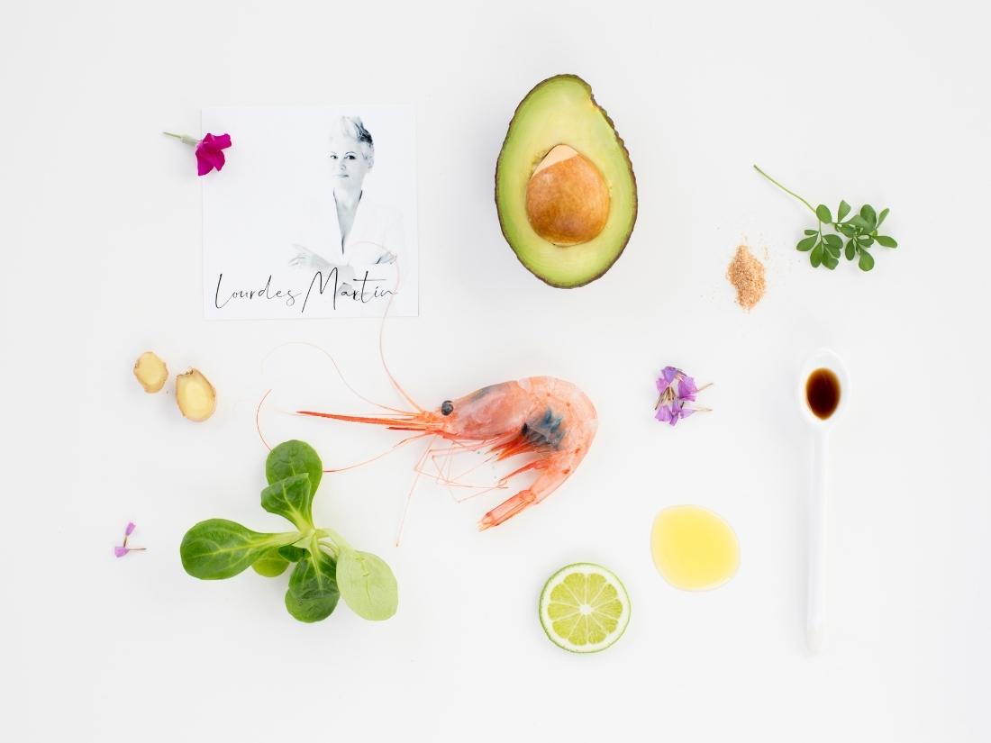 Receta de Tropical Rolls de Aguacate y Quisquilla de Motril por Lourdes Martín para Chef de la Quisquilla - Álvaro García